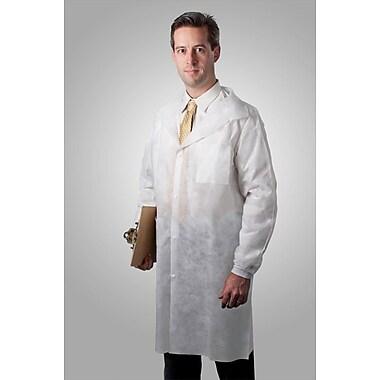 Tronex Fluid-Resistant Spunbond Full-Length Lab Coat, Unisex, Extra Large, Lab Coat, White (594035W)