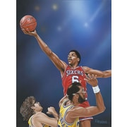 Diamond Decor Dr. J Going to the Rim Artwork Canvas 24 x 32 in. (DV2026CL)