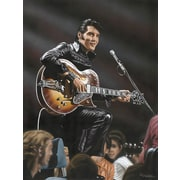 Diamond Decor Elvis in Leather Artwork Canvas 24 x 32 in. (DV2021CL)
