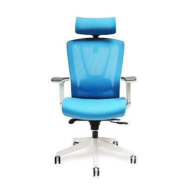 ActiveChair Mesh and Fabric Gaming Chair Blue Single IN13B