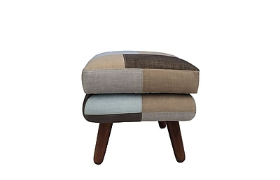 Vifah Naples Bridgewater Polyester Ottoman Brown Single IN18