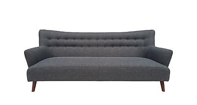 Vifah Pangee Bridgewater Fabric Sofa Steel Single IN20