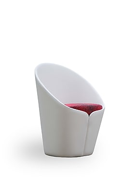 Vifah Butterfly Fabric Fiber Glass Petal Lounge Chair White Single IN12W