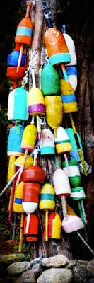 Diamond Decor Wall Art Colorful Buoys 12 x 36 in. (JW1002CL)