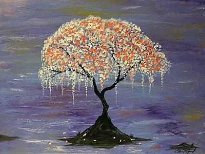 Diamond Decor Wall Art Cherry Blossom 12 x 16 in. (EDC103CS)