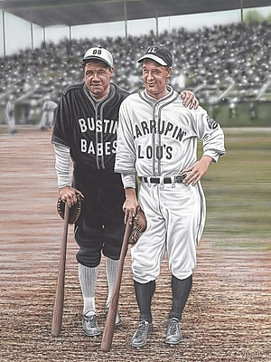 Diamond Decor Babe Ruth and Lou Gehrig Artwork Canvas 18 x 24 in. (DV2013CM)