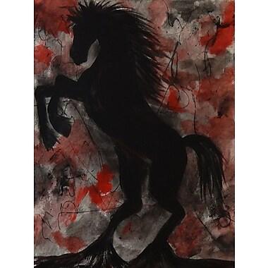 Diamond Decor Wall Art Black Stallion 24 x 32 in. (EDC042CL)