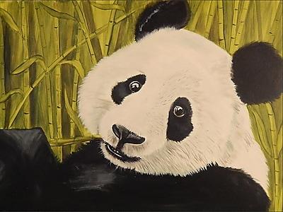Diamond Decor Wall Art Happy Panda 18 x 24 in. (EDC090CM)