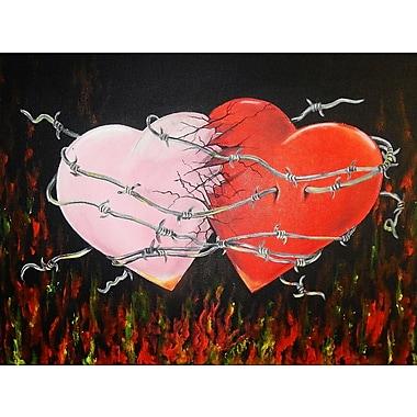 Diamond Decor Wall Art Hearts Together Crashing Hearts 12 x 16 in. (EDC004CS)