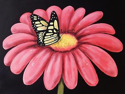 Diamond Decor Wall Art Butterfly's Snack 18 x 24 in. (EDC078CM)