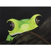 Diamond Decor Wall Art Peeking Frog 12 x 16 in. (EDC015CS)