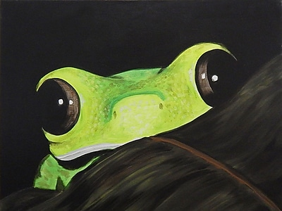 Diamond Decor Wall Art Peeking Frog 12 x 16 in. (EDC015CS)