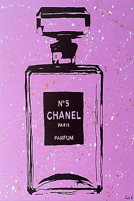 Diamond Decor Purple Chanel No.5 Pop Art 16 x 24 in. (PAQ005CM)