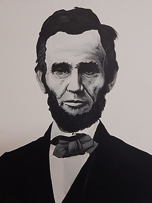Diamond Decor Wall Art Abraham Lincoln 24 x 32 in. (EDC074CL)
