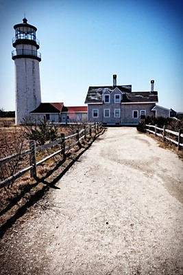 Diamond Decor Wall Art Highland Lighthouse Cape Cod MA 24 x 36 Portrait in. (JW1014CL)