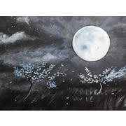 Diamond Decor Wall Art Blue Moon 12 x 16 in. (EDC081CS)