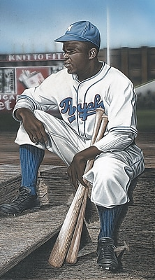 Diamond Decor Jackie Robinson Minor League Royals Artwork Canvas 15 x 27 in. (DV2008CM)
