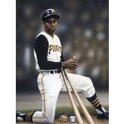 Diamond Decor Wall Art Roberto Clemente on Deck Artwork Canvas 12 x 16  in. (DV2033CS)