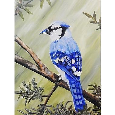 Diamond Decor Wall Art Blue Jay 12 x 16 in. (EDC007CS)