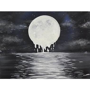 Diamond Decor Wall Art Melty moon 12 x 16 in. (EDC057CS)
