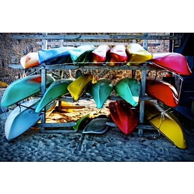 Diamond Decor Wall Art Boats at the Ready 24 x 36 in. (JW1021CL)