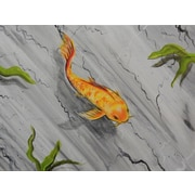Diamond Decor Wall Art Marble Koi 12 x 16 in. (EDC051CS)
