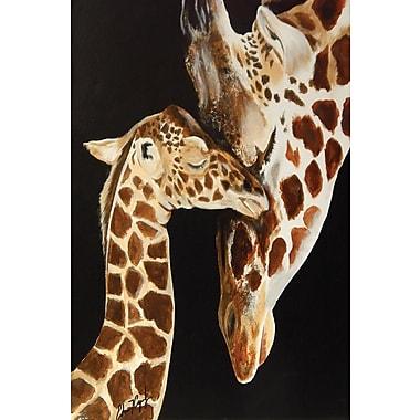Diamond Decor Wall Art Giraffes First Kiss 24 x 36 in. (EDC094CL)