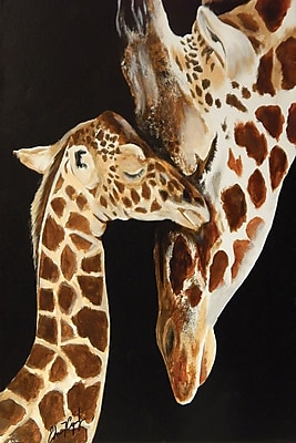 Diamond Decor Wall Art Giraffes First Kiss 24 x 36 in. (EDC094CL)