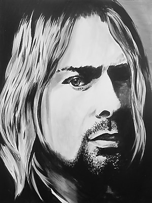 Diamond Decor Wall Art Kurt Cobain 12 x 16 in. (EDC001CS)