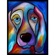 Diamond Decor Wall Art Te Regal Beagle Canvas18 x 24 in. (FS010CM)