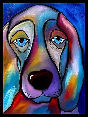 Diamond Decor Wall Art Te Regal Beagle Canvas 24 x 32 in. (FS010CL)