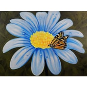 Diamond Decor Wall Art Butterfly Lunch on Flower 12 x 16 in. (EDC009CS)