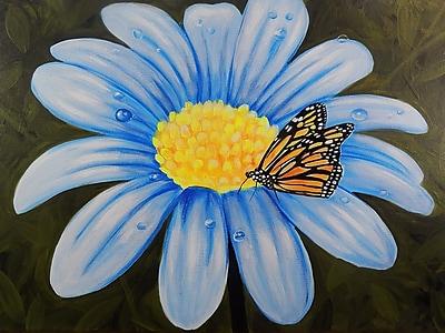 Diamond Decor Wall Art Butterfly Lunch on Flower 24 x 32 in. (EDC009CL)