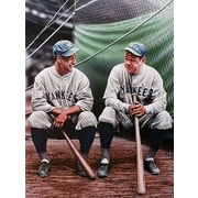 Diamond Decor Babe Ruth and Lou Gehrig Artwork 24 x 32 in. (DV2001CL)