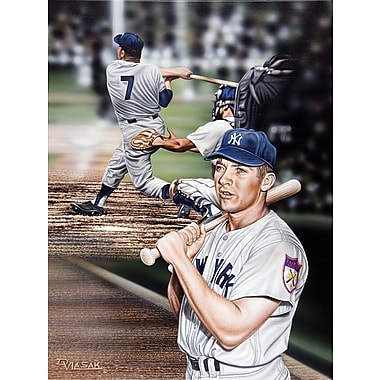 Diamond Decor Wall Art Mickey Mantle The Mick Artwork Canvas 18 x 24 in. (DV2035CM)