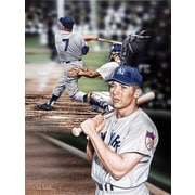 Diamond Decor Wall Art Mickey Mantle The Mick Artwork Canvas  12 x 16 in. (DV2035CS)