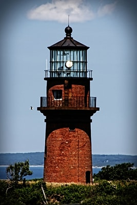 Diamond Decor Wall Art Gay Head Lighthouse Marthas Vineyard 16 x 24 in. (JW1017CM)