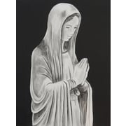 Diamond Decor Wall Art Mother Mary Statue 24 x 32 in. (EDC061CL)