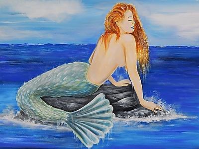 Diamond Decor Wall Art Nautical Mermaid 24 x 32 in. (EDC092CL)