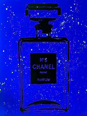 Diamond Decor Wall Art Chanel Pop Art Blue Chic 24 x 32 in. (PAQ015CL)