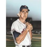 Diamond Decor Ted williams Portrait Artwork Canvas 12 x 16 in. (DV2022CS)