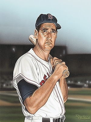 Diamond Decor Ted williams Portrait Artwork Canvas 12 x 16 in. (DV2022CS)