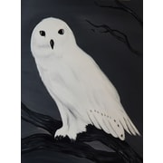 Diamond Decor Wall Art Snowy Owl 24 x 32 in. (EDC041CL)