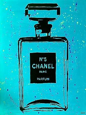 Diamond Decor Wall Art Chanel Pop Art CC Blue Chic 18 x 24 in. (PAQ013CM)