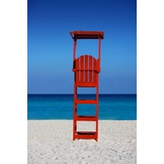 Diamond Decor Wall Art Caribbean Beach Lifegaurd Stand 12 x 18 in. (JW1030CS)