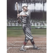 Diamond Decor Wall Art Babe Ruth as a Red Sox Artwork Canvas 12 x 16 in. (DV2009CS)