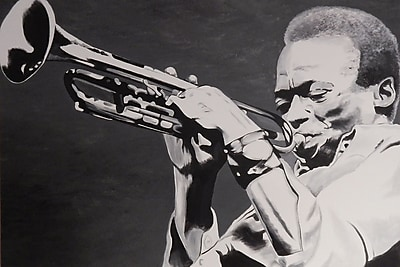 Diamond Decor Wall Art Miles Davis 24 x 36 in. (EDC073CL)