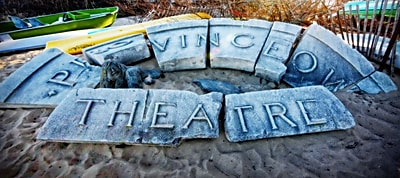 Diamond Decor Wall Art Provincetown Theater Sign Ruins 16 x 36 in. (JW1020CL)