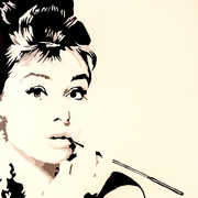 Diamond Decor Wall Art Just Smokin  Audrey Hepburn 12x 12 in. (PAQ004CS)