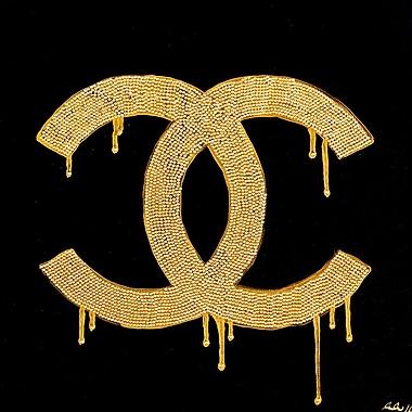 Diamond Decor Wall Art Chanel Gold Lust 24 x 24 in. (PAQ010CL)